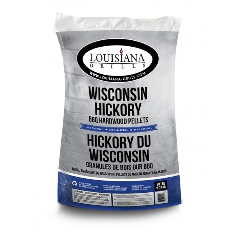 Louisiana Grills Pellets Wisconsin Hickory 9 kg