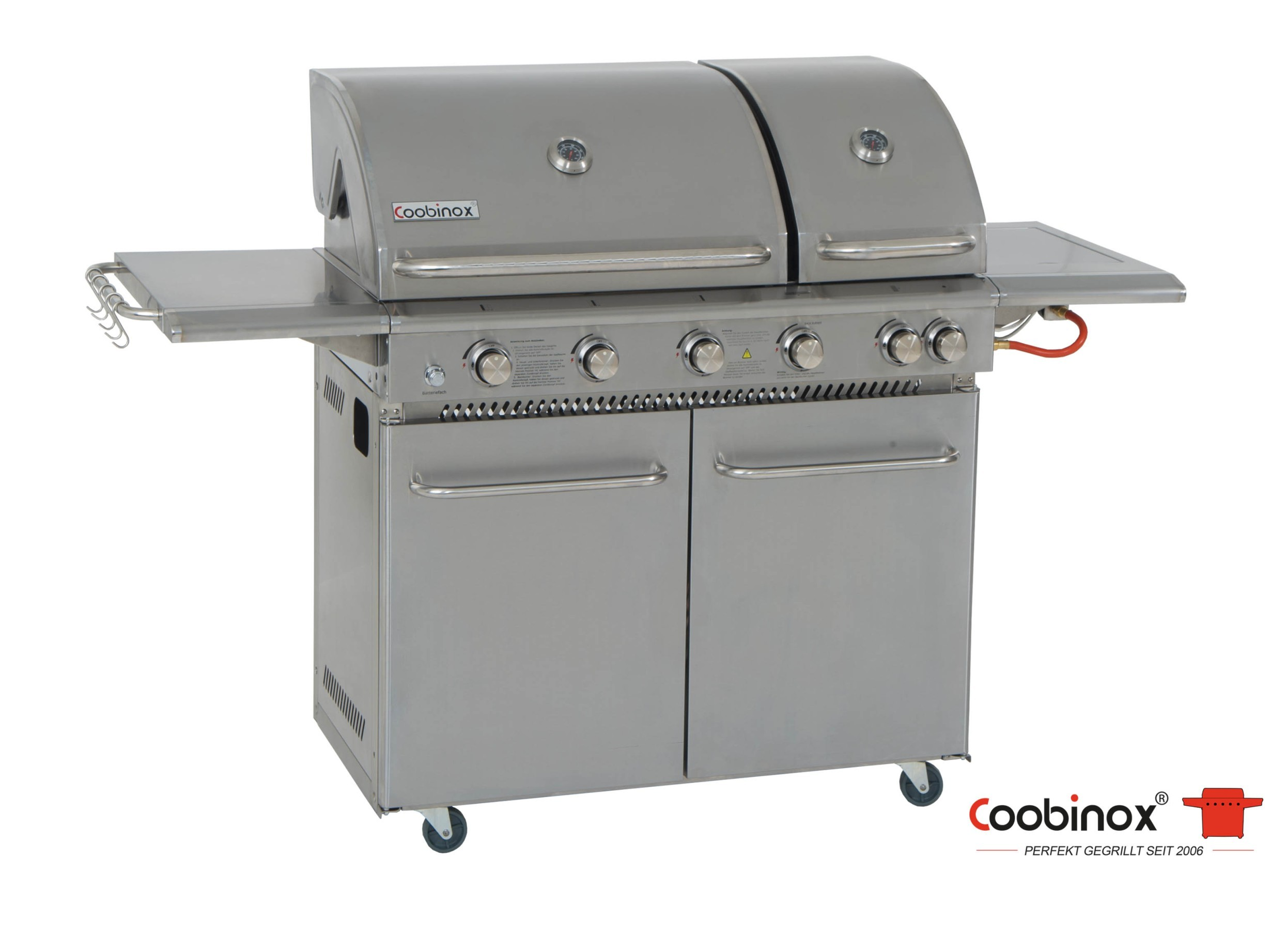 Gas Oder Holzkohlegrill Price : Coobinox gasgrill double power