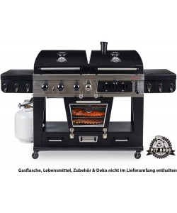 Pit Boss Memphis Ultimate Combo 4-in-1 Gas, Holzkohle & Elektrischer Smoker